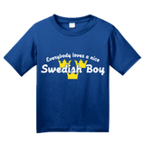 Youth Royal Everyone Loves A Nice Swedish Boy - Sweden Sverige Heritage Love T-shirt