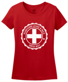 Ladies Red Everyone Loves A Nice Swiss Boy - Switzerland Pride Heritage T-shirt