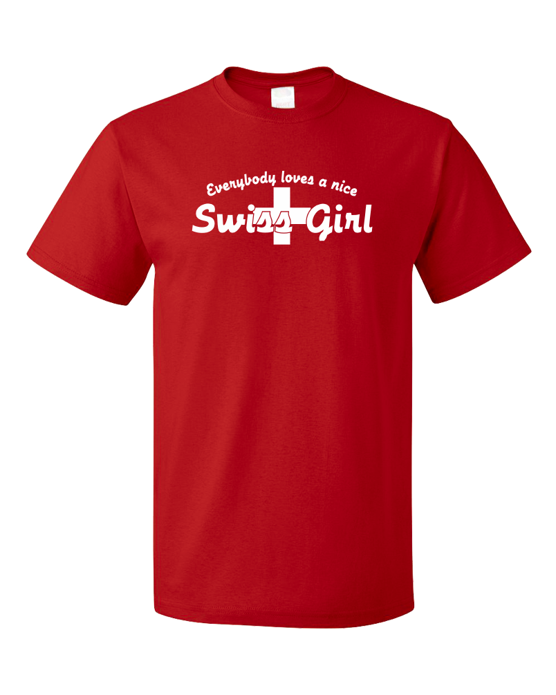 Standard Red Everyone Loves A Nice Swiss Girl - Switzerland Pride Heritage T-shirt