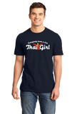 Standard Navy Everyone Loves A Nice Thai Girl - Thailand Heritage T-shirt