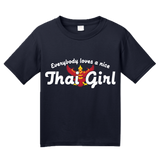 Youth Navy Everyone Loves A Nice Thai Girl - Thailand Heritage T-shirt