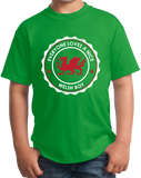 Youth Green Everyone Loves A Nice Welsh Boy - Wales Cymru Heritage Pride T-shirt