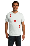 Standard White Ace Of Diamonds - Magician Poker Player Card Games Funny Costume T-shirt