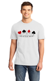 Standard White Choose Your Weapon - Gambler Poker Player Texas Hold'em Humor T-shirt