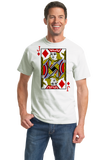 Standard White Jack Of Diamonds - Card Player Costume Magician Gambler Fun T-shirt
