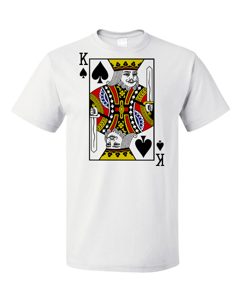 Standard White King Of Spades - Card Player Face Funny Gambling Magic Poker T-shirt