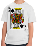 Youth White King Of Spades - Card Player Face Funny Gambling Magic Poker T-shirt