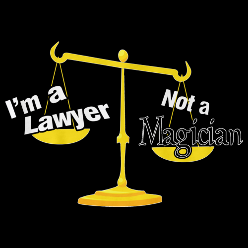 I'M A LAWYER, NOT A MAGICIAN Black art preview