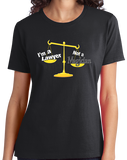 Ladies Black I'm A Lawyer, Not A Magician - Lawyer Humor Legal Joke Sarcastic T-shirt