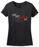Ladies Black What Would Houdini Do? - Magician Humor Absurd Funny T-shirt
