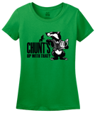 Ladies Green Magic Tavern Chunt's Up With That T-shirt