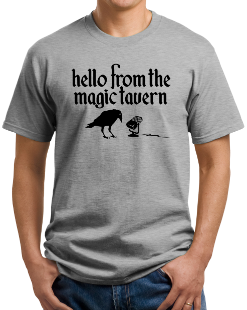 Unisex Grey Magic Tavern Logo T-shirt