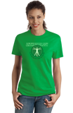 Ladies Green College Major Anthropology - Starving Academic Humor Anthro Joke T-shirt
