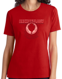 Ladies Red College Major Archaeology - Indiana Jones Relics Dig Funny Joke T-shirt