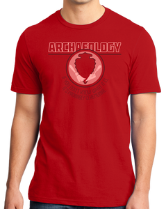 Standard Red College Major Archaeology - Indiana Jones Relics Dig Funny Joke T-shirt