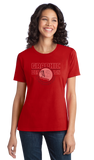 Ladies Red College Major Graphic Design - Creative Student Not Artist Funny T-shirt