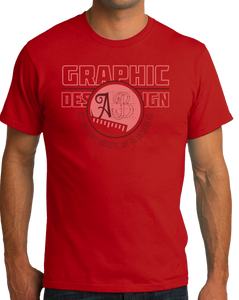 Standard Red College Major Graphic Design - Creative Student Not Artist Funny T-shirt