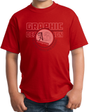 Youth Red College Major Graphic Design - Creative Student Not Artist Funny T-shirt