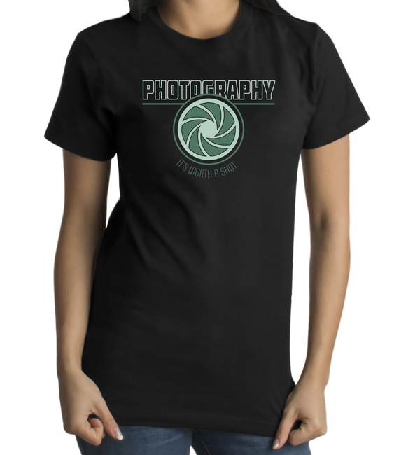 Standard Black College Major Photography - Photographer Student Funny Humor T-shirt