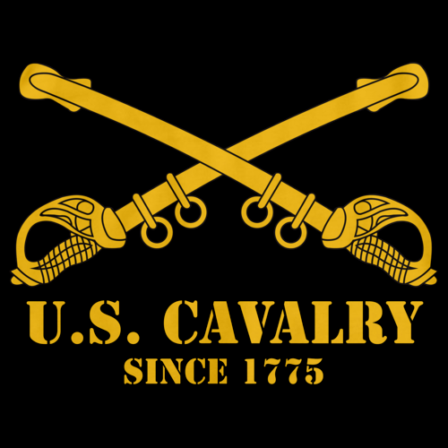 U.S. ARMY CAVALRY, SINCE 1775 Black art preview