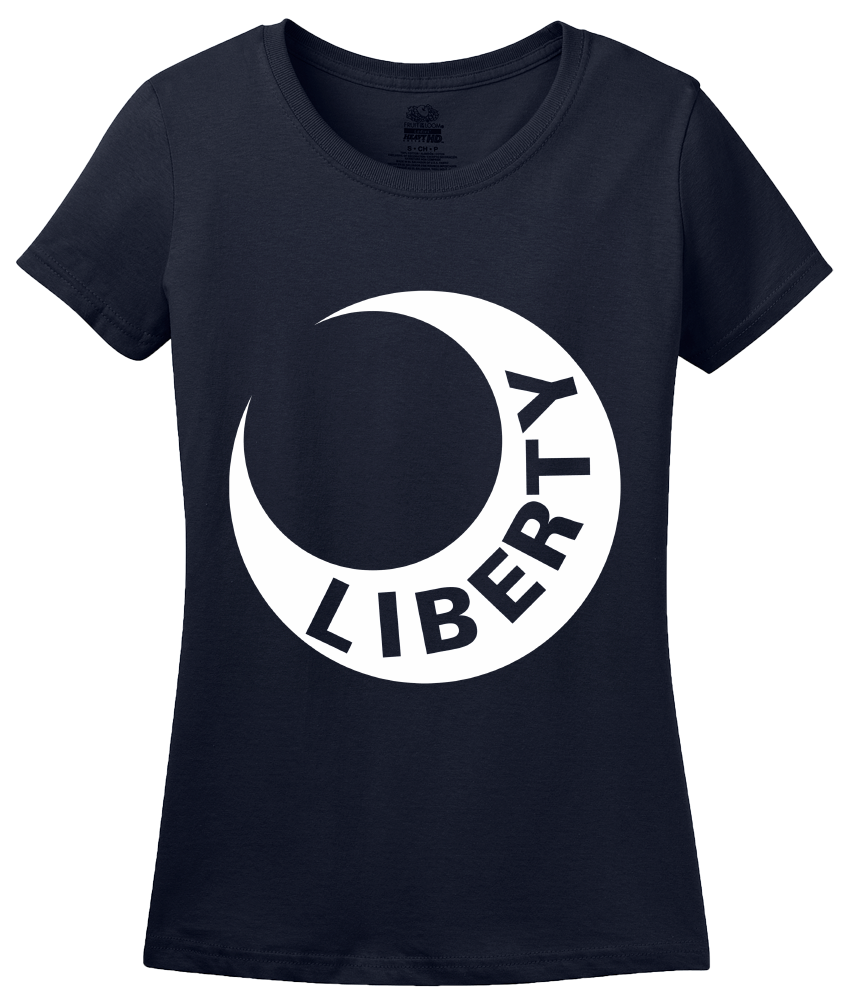Ladies Navy Moultrie Flag - American Revolution History Virginia Liberty T-shirt