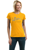 Ladies Gold Join Or Die - American Revolution Ben Franklin Liberty Patriot T-shirt