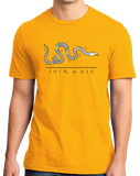 Standard Gold Join Or Die - American Revolution Ben Franklin Liberty Patriot T-shirt