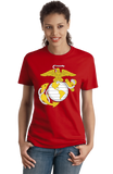 Ladies Red USMC Marine Corps Insignia T-shirt