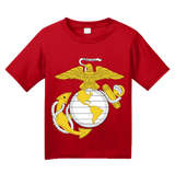 Youth Red USMC Marine Corps Insignia T-shirt