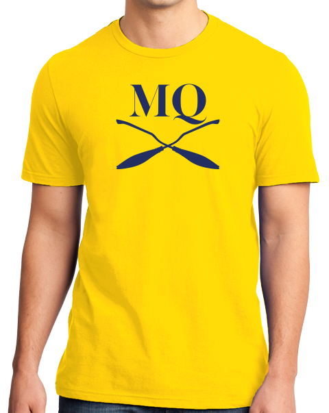 Unisex Yellow Michigan Quidditch Brooms Logo Tee T-shirt