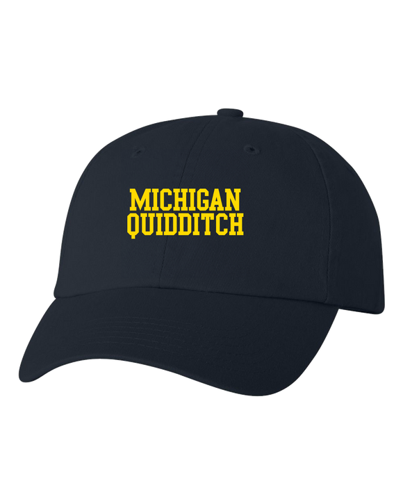 Low Profile Hat Navy Michigan Quidditch Hat