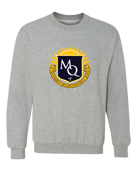 Crewneck Sweatshirt Grey Michigan Quidditch Logo Crewneck sweatshirt