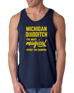 Tank Top Navy Michigan Quidditch Magical Sport Tank-Top