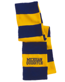 Striped Scarf Navy And Gold Michigan Quidditch Scarf T-shirt