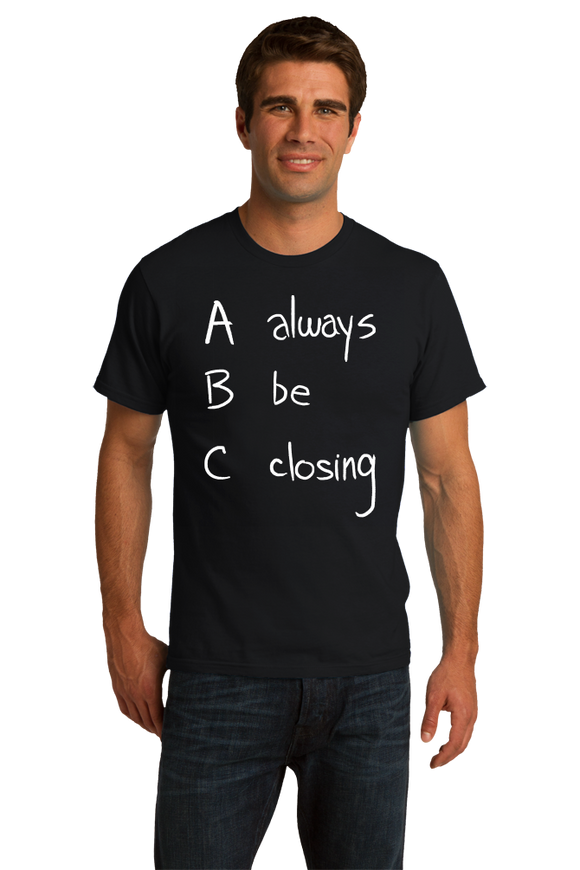 Standard Black ABC: ALWAYS BE CLOSING T-shirt