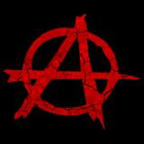ANARCHY DISTRESSED SYMBOL Black art preview