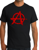 Standard Black ANARCHY DISTRESSED SYMBOL T-shirt
