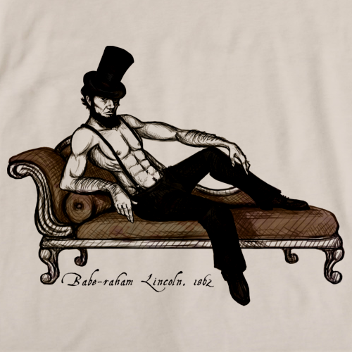 Babe Raham Lincoln T Shirt Natural art preview