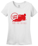 Ladies White BBW Love -- Bones Are For Dogs - BBW Fan Love Pride Thick Girls T-shirt