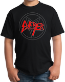 Youth Black BIEBER SLAYER METAL HUMOR T-shirt