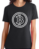 Ladies Black Bitcoin Logo - Tech Humor Silk Road Bitcoiner Bitcoin Mining T-shirt