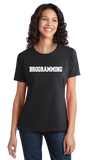 Ladies Black Brogramming - Tech Bro Humor Programmer Coding Computer Engineer T-shirt