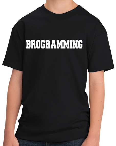 Youth Black Brogramming - Tech Bro Humor Programmer Coding Computer Engineer T-shirt