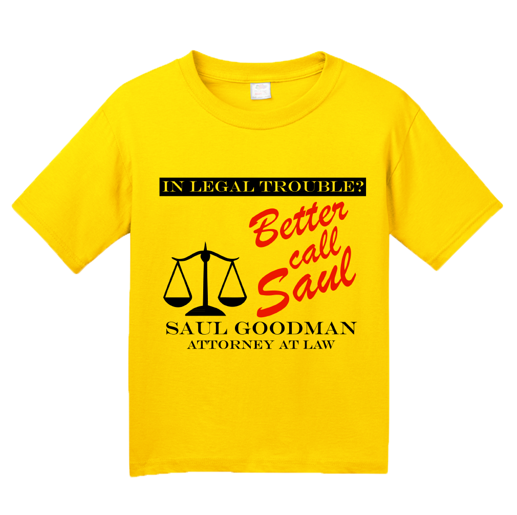 Youth Yellow BETTER CALL SAUL! T-shirt
