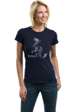 Ladies Navy Star Sign: Capricorn - Astrology Astrological Sign Sea Goat T-shirt
