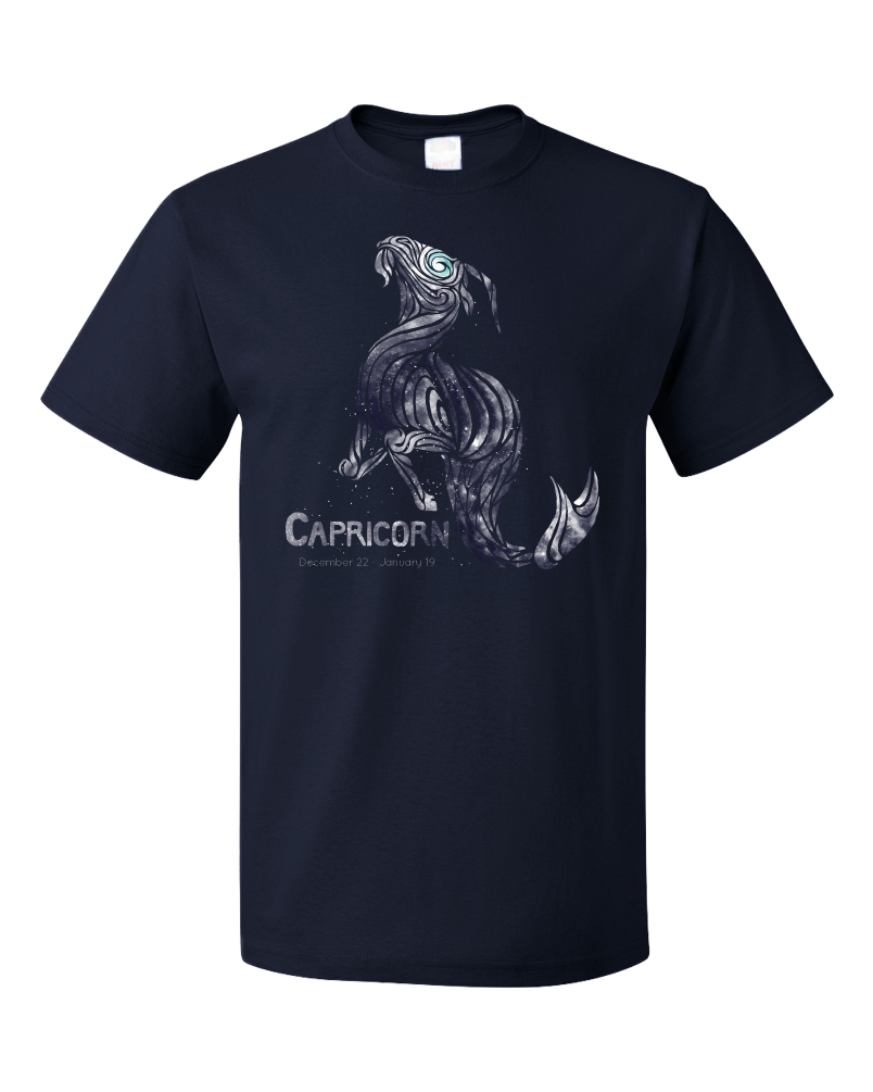 Standard Navy Star Sign: Capricorn - Astrology Astrological Sign Sea Goat T-shirt