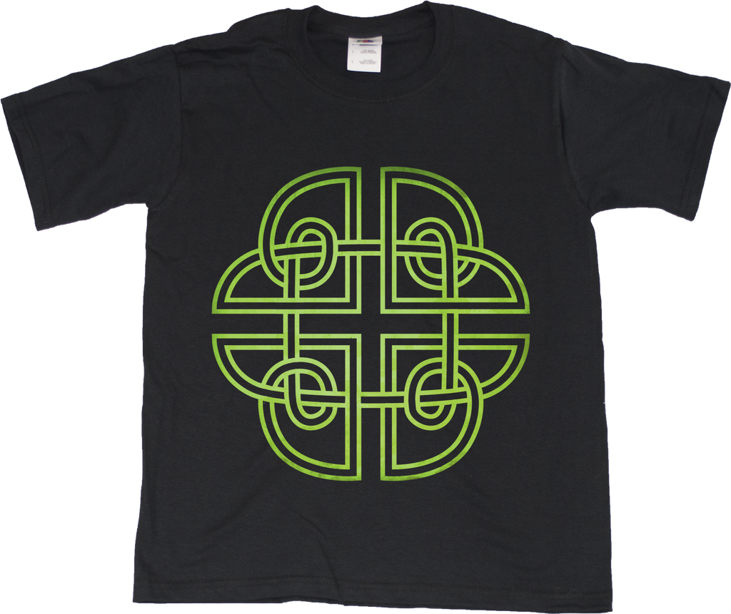 Youth Black Traditional Celtic Knot - Irish Galeic Heritage Pride Icon
