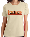 Ladies Natural The Cleve- Cleveland Pride Ohio Rocks Hometown Love Gift T-shirt