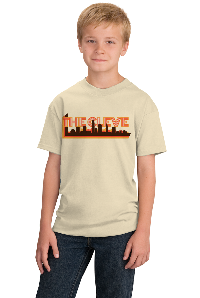 Youth Natural The Cleve- Cleveland Pride Ohio Rocks Hometown Love Gift T-shirt