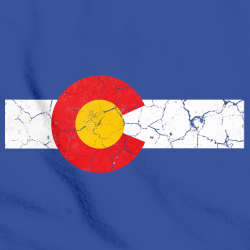 COLORADO STATE FLAG DISTRESSED Royal Blue art preview